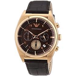 Emporio Armani Herren-Armbanduhr XL Chronograph Quarz Leder AR0371
