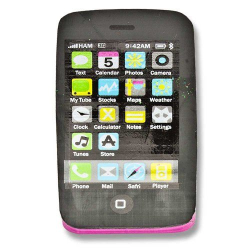 Radiergummi Handy Smartphone Touch Handy Mobile Phone rosa pink Touch Mobile Handy