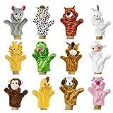 Yidarton Burattino a Mano Animale Peluche Marionette Bambola Burattino Regalo Natale Set di 12 Burattini (Chinese Zodiac)