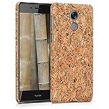 kwmobile Huawei Honor 6C Hülle - Handyhülle für Huawei Honor 6C - Hellbraun - Handy Case Kork Cover Schutzhülle