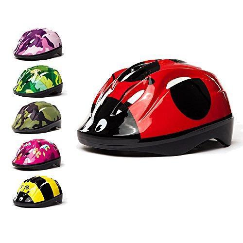 3Style Scooters –Kinder Fahrradhelm im Marienkäfer-Design–zum Radfahren, Skaten, Rollerfahren–Verstellbares Kopfband für Größen 49cm, 50cm &...