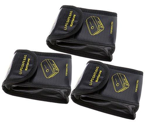 3x Lipo Batterie Akku Tasche Beutel Safe Bag Sicherheit Pouch Für DJI Mavic Pro - Safety First Bag