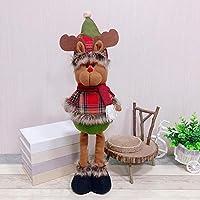 ZengBuks Muñeco telescópico de Papá Noel muñeco de Nieve Reno Juguete Estatuilla Adornos para árboles de