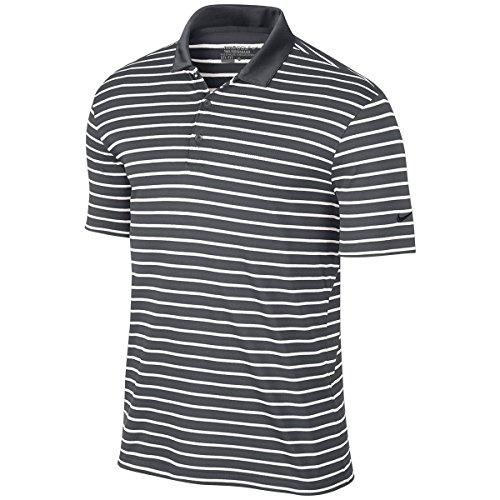 Nike Polo Icon Stripe Grigio Scuro/Bianco/Nero
