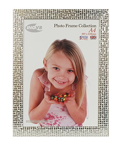 Inov8 A4 British Made Picture/Photo Frame, Mosaic Silver