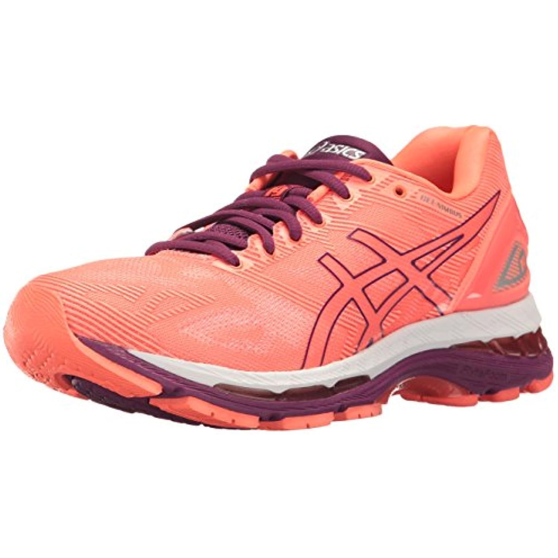 ASICS - Gel-Nimbus 19 - ASICS Chaussures de course à pied - Pour femme - Gris - Taille unique - Rouge - Flash Coral/Dark... - B01GST3QAM - 8c0496