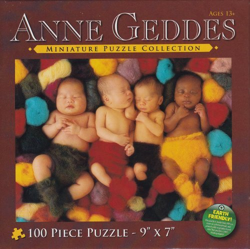 Anne Geddes Miniature Puzzle Collection: Heartfelt Series #7700-11 Baby in Tree