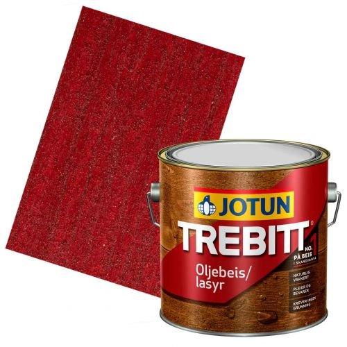 JOTUN TREBITT Lasur 686 Rot 3l - Holzlasur Holzschutzlasur