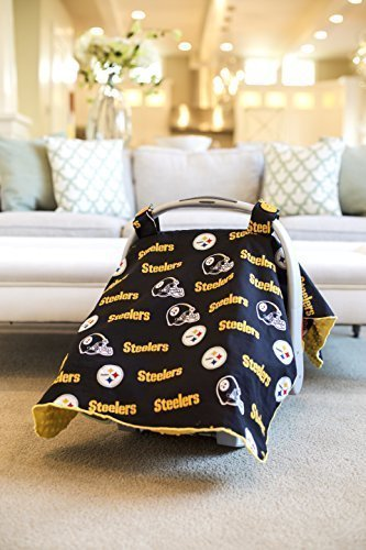 Carseat Canopy NFL Pittsburgh Steelers Baby Infant Car Seat Cover By Buy