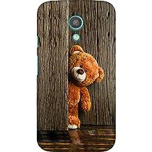 AMEZ Moto G2 High Quality Printed Back Case (Cute Taddy Bear)
