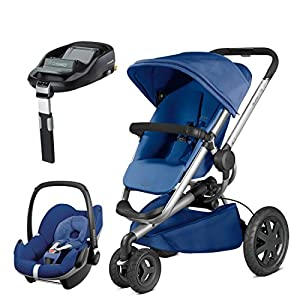 Quinny Buzz Xtra Blue Base with Pebble Car Seat and Familyfix Base   5
