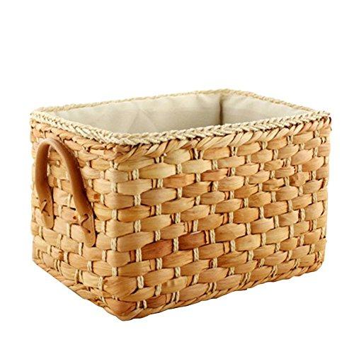 Desktop Storage Basket Home Sundries Boxes Corn Husk Woven Basket Kann für Kleidung Kosmetik Tissue Schreibwaren verwendet werden Kann Größe Farbe wählen Woven Storage-boxen
