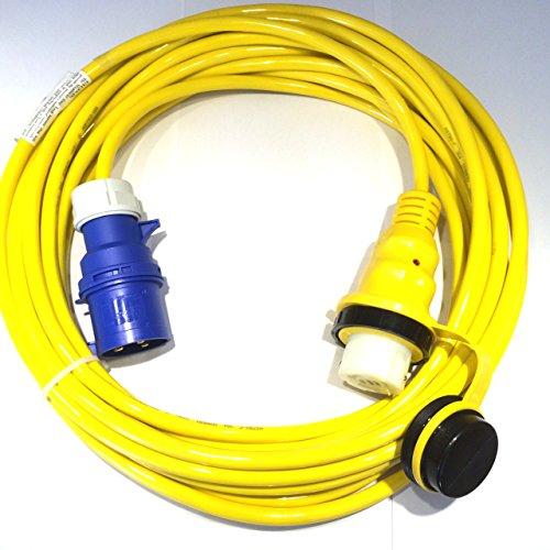 HTH Art. 897 Landanschlusskabel CEE 230V 32A auf US Marinco 32A, NEMA mit 15m Bootskabel Landanschluss-kabel