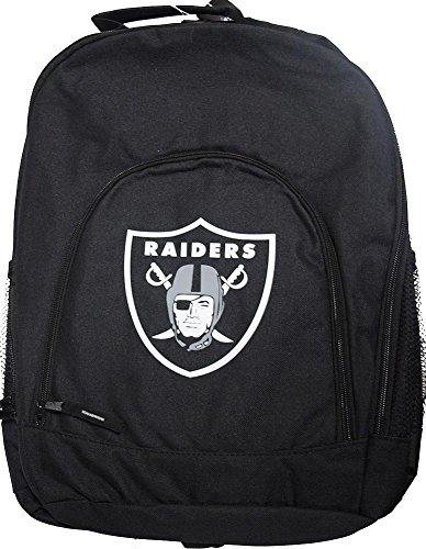 Forever Collectibles NFL Las Vegas Raiders Back To School Backpack Black Bag Rucksack Tasche