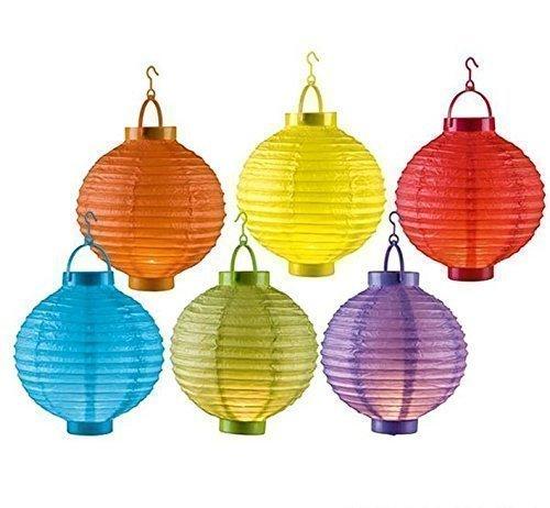 Preisvergleich Produktbild 6er Set LED Papierlaterne Lampion Lampions Laterne Garten Ballon Papierlampion