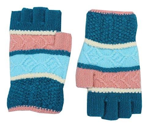 Romano Women's Beautiful Fingerless Multi-Colured Winter Woollen Gloves