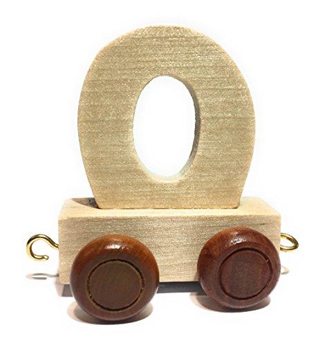 *Buchstabenzug | Wunschname zusammenstellen | Holzeisenbahn | EbyReo® Namenszug aus Holz | personalisierbar | auch als Geschenk Set ( Buchstabenzug O )*