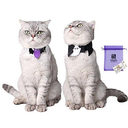 Bolbove Halsband, verstellbar, für Halloween, für Katzen und kleine Hunde, Einheitsgröße, Freesize, violett (Halsbänder Halloween Reflektierende)