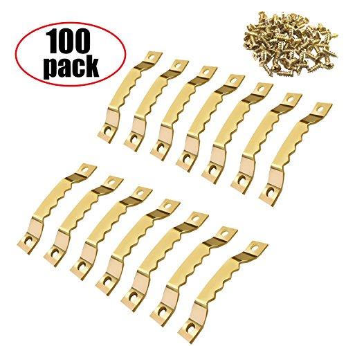 Bildaufhänger - 100 Stück Bildaufhänger Bilderrahmen Aufhänger mit Schrauben