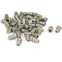 sourcingmap 50pcs M4x10mm Rosca Hex Socket Tuerca Remachable Metal Chapado Cincado para Carpintería Madera