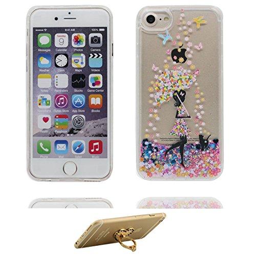 """iPhone 6 Plus Coque, Bling Glitter iPhone 6s Plus étui Cover (5.5""""), Fluide Liquide Sparkles Sables iPhone 6 Plus Case (5.5""""), Shell anti- chocs- (Fariy fée) et ring Support # 7"""