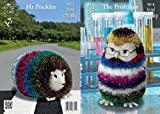 King Cole The Professor & Mr Prickles Toys Tinsel Knitting Pattern 9018 DK, Chunky