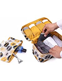 myzon Nylon Undergarments and Innerwear Storage Organiser Travel Bag Cosmetic Pouch for Women, Toiletry Bag Organiser (Multi-Color)
