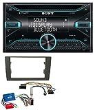 Sony WX-920BT CD MP3 AUX 2DIN Bluetooth USB Autoradio für Audi A4 B6 B7 01-08 Aktivsystem Mini-ISO