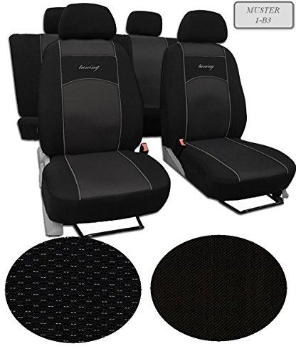 Fundas de asiento apto para AUDI A1. schonbezüge, Super Calidad, diseño VIP universal. En esta oferta patrón de 1B3(disponible en 9Colores Ofertas en otros). Completo se compone de: Asiento Fundas + 5reposacabezas + Montaje häckchen.