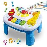 HERSITY Mesa de Actividades Juguetes Musicales para Bebés Educación Temprana Infantil Juegos para Niños