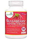 #1: Simply Herbal Raspberry Ketones Green Tea Extract Weight Loss Supplement 800mg 60 Capsules(Pack of 1)