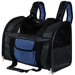 Trixie 2882 Sac à dos 'Connor' en nylon 42 × 29 × 21 cm Noir / Bleu