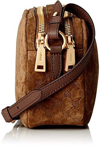 Joop Damen Velluto Stampa Leandra Shoulderbag Shz Schultertasche, 7,2x14,5x24 cm Braun (Dark Brown)