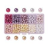 PandaHall Elite 600 Stück 6mm Runde Perlen Kuppel Glas Cabochons für DIY Schmuck 10 Farbe