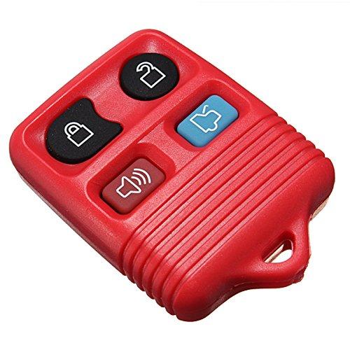 GOZAR Gummi-Pad 4-Tasten-Fernbedienungs Schlüssel Shell Fob Case 4 Farbe Für Ford-Rot