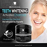 Activated Charcoal Natural Teeth Whitening Powder | 100% Organic Ingredients, Vegan, Premium Teeth Whitening | Remove Teeth Discolouration and Stains, Naturally Whiter Teeth by Dr Charcoal®