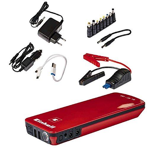 einhell batterie ladegeraet Einhell Auto-Starthilfe - CC-JS 18 (3 x 6000 mAh, Energiestation, Jump Starter, mobile Stromversorgung, LiPo-Akku, Ladezustandsanzeige, Starthilfeeinrichtung, inkl. Tasche)