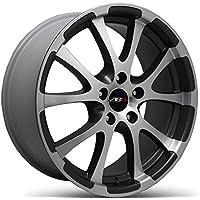 Abu Wheels ABU18x 18ET35LK 5x 112Nero Argento Lucidato 18pollici cerchione in alluminio cerchioni ruote Audi Seat Skoda VW lm - 18 Pollici Nero Ruote Cerchioni