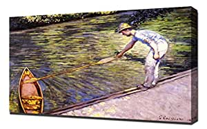 Gustave Caillebotte - Boater Pulling On His Perissoire - Reproduction d'art sur toile