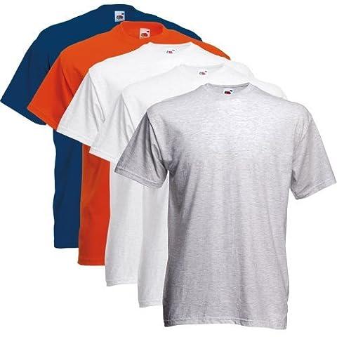 Fruit of the Loom T-Shirt pour hommes De 5 pièces PackRegular Coupe 11182V - Jeu de couleurs IV, XL