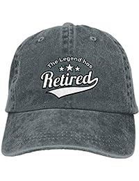 Kotdeqay Unisex Washed The Legend ha Retirado la Gorra de béisbol de  Mezclilla Retro Sombrero de papá Ajustable… 5258c650ac2