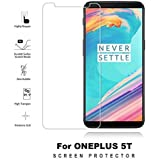 Mobitech OnePlus 5T Tempered Glass Screen Protector, Full Glue Screen Protector - Transparent