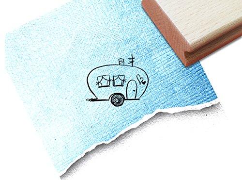 Stempel - Niedlicher Motivstempel WOHNWAGEN ♡ CARAVAN (klein) - Bildstempel für große und kleine Hände - hübsch und zeitlos - von zAcheR-fineT