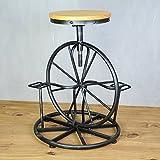 lpkone-Freizeitaktivitäten Stuhl, kreative Rollstuhl, Land retro Schmiedeeisen Bar Stuhl, alte rotation Barhocker Lift kann, schwarz