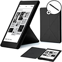 Forefront Cases® Kobo AURA One (Lanzado en 2016) Origami Funda Carcasa Stand Smart Case Cover Protectora Plegable – Función automática inteligente de Suspensión/Encendido + Lápiz óptico