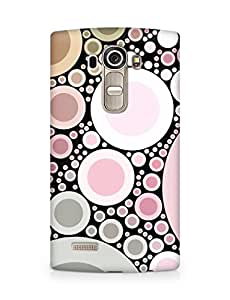Amez designer printed 3d premium high quality back case cover for LG G4 (Pink pearls abstract)