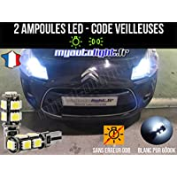 Pack lamparillas LED de color blanco Xenon para Citroen C3 II