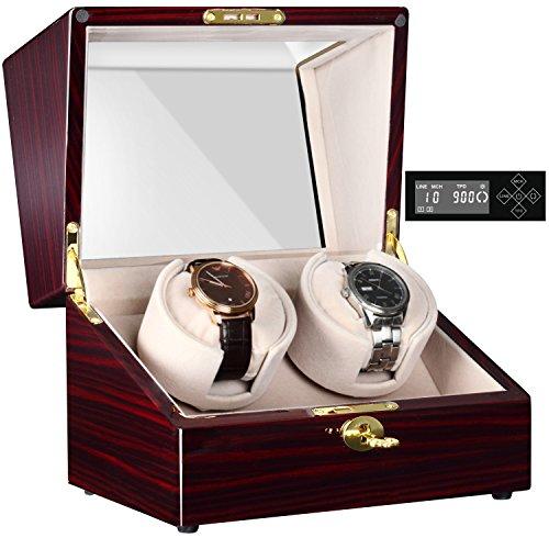 CHIYODA Automatische Uhrenbeweger mit Ruhiger Mabuchi Motor, LCD-Digitalanzeige (Lcd-digitalanzeige)