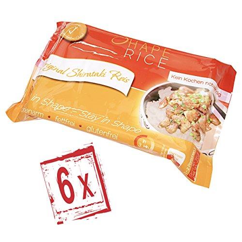 Shirataki Konjak Nudeln - Reis - Shape Noodles - 390 gr. (6x)