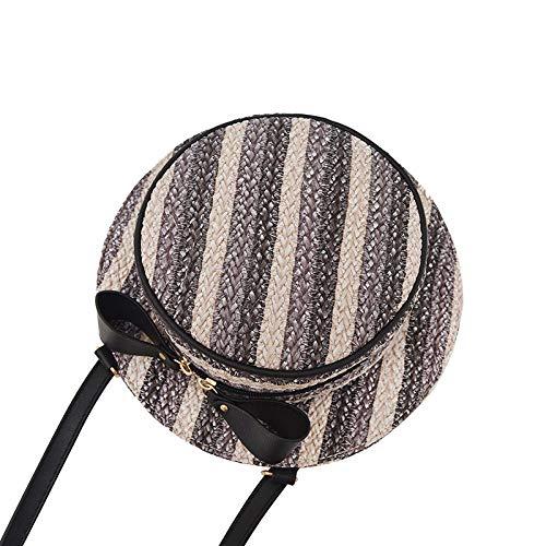 fonxoy-Shoulder Bags Damen Handtaschen Schultertaschen Umhängetaschen Umhängetasche Umhängetasche Hut Stil Tasche Grau -